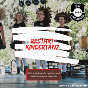 SV Gablingen - Restart Kindertanz